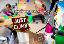 Just Climb - Early Bird Promotion: 34% OFF 50-min Kids/Adult Indoor Climbing Class