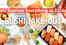 Sushi Express: Everything at $2 at Sunshine City from 24 - 28 Sep 2019