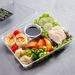 Slow Cooked Chicken & Sustainable Shrimp Wrap Bento Box